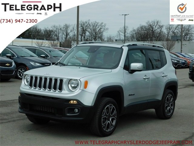 Certified Pre Owned Jeep >> Certified Pre Owned 2018 Jeep Renegade Limited Sport Utility In